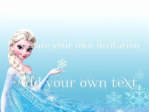 Frozen Party Invitation Template Unique Instant Frozen Party Invitation or Stationery