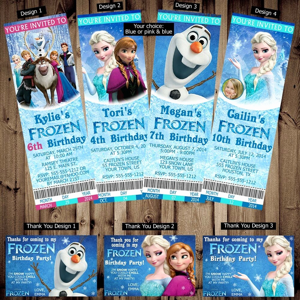 Frozen Party Invitation Templates Beautiful Printed Personalized Disney Frozen Birthday Ticket