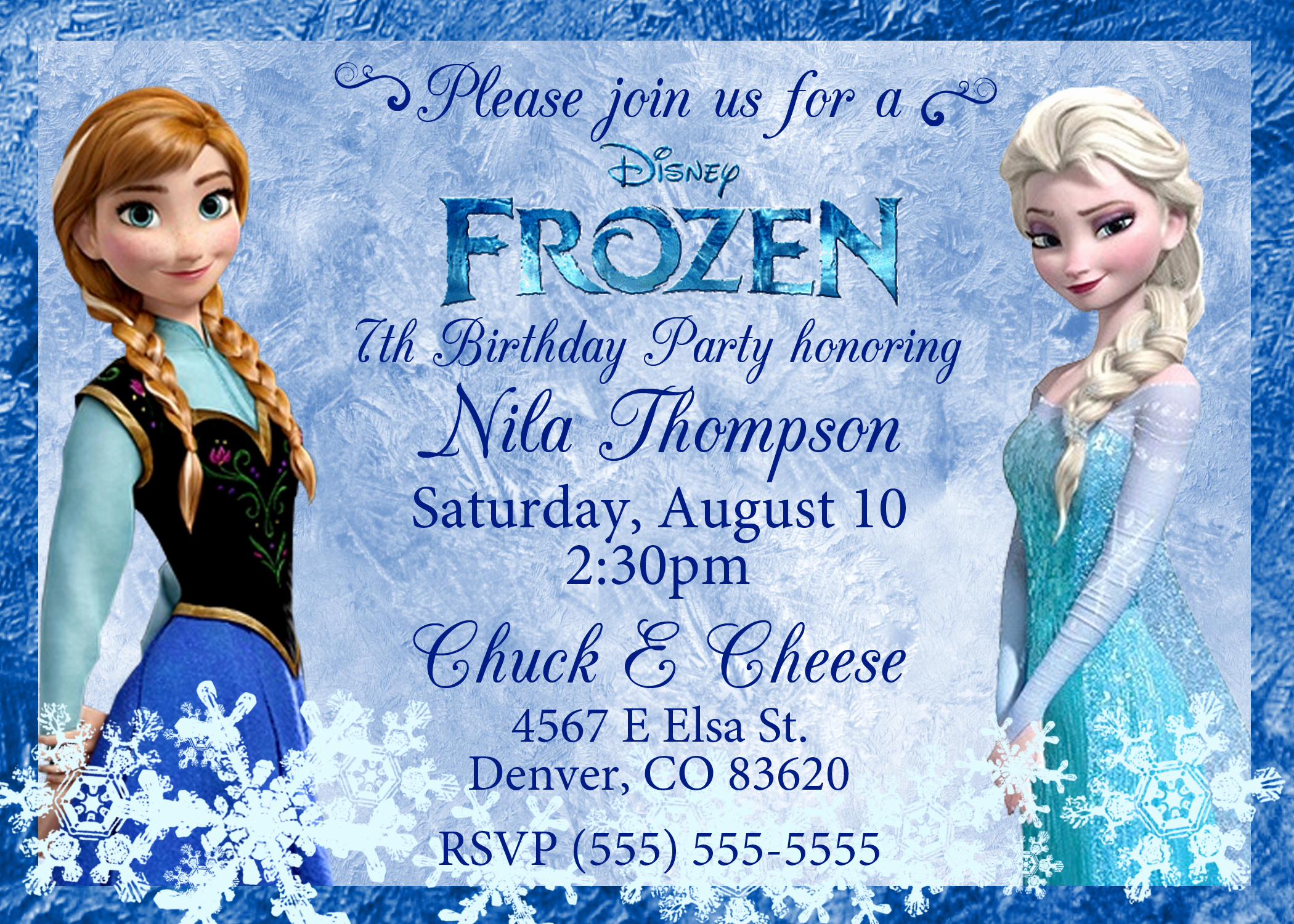 Frozen Party Invitation Templates Elegant Frozen Birthday Invitations