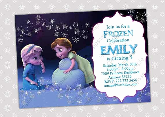 Frozen Party Invitation Templates Fresh Items Similar to Frozen Invitation Frozen Birthday