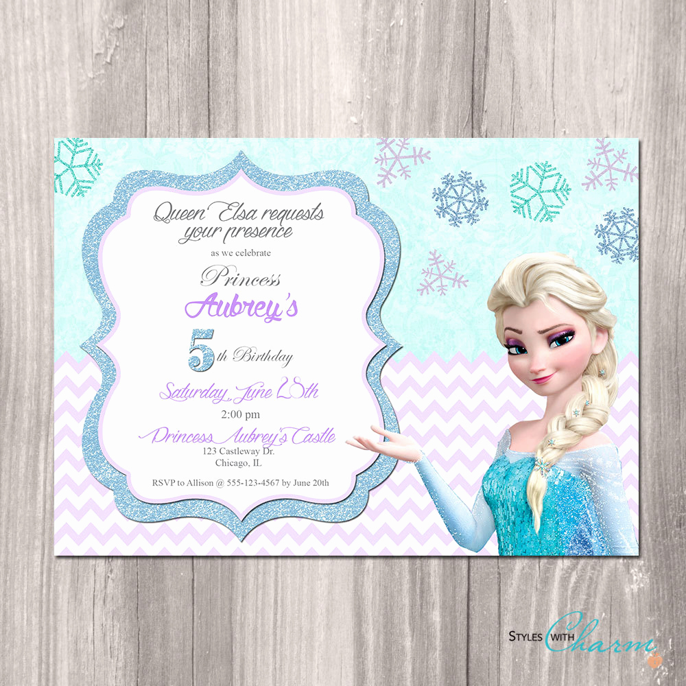 Frozen Party Invitation Templates Inspirational Frozen Birthday Invitations Printable Free