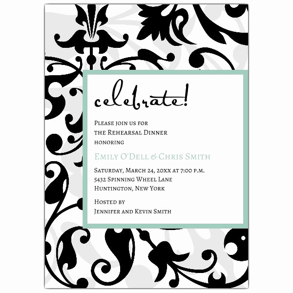 Fun Rehearsal Dinner Invitation Wording Elegant Fun Faux Flocked Rehearsal Dinner Invitations