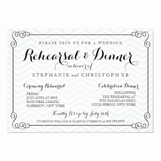Fun Rehearsal Dinner Invitation Wording Lovely Chic Chevron Wedding Rehearsal & Dinner Invitation