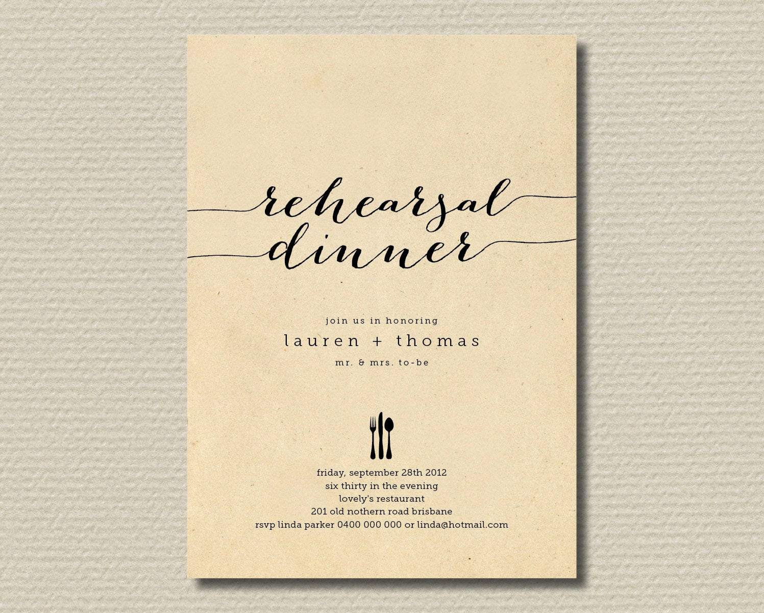 Fun Rehearsal Dinner Invitation Wording Lovely Printable Wedding Rehearsal Dinner Invitation by
