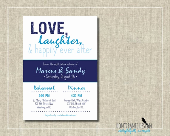 Fun Rehearsal Dinner Invitation Wording New Printable Rehearsal Dinner Invitation Fun by Dontpanicdesign