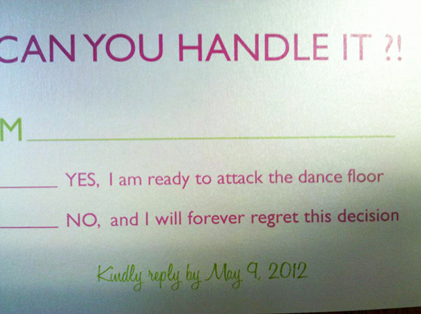 Fun Wedding Invitation Wording Inspirational 9 Hilarious Wedding Invitations that Simply Can't Be