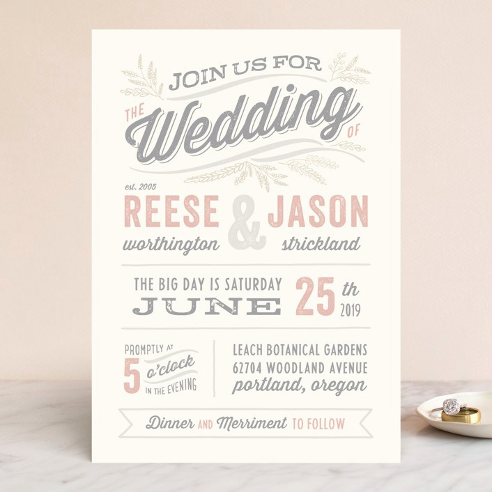 Fun Wedding Invitation Wording Inspirational Wedding Invitation Wording that Won T Make You Barf