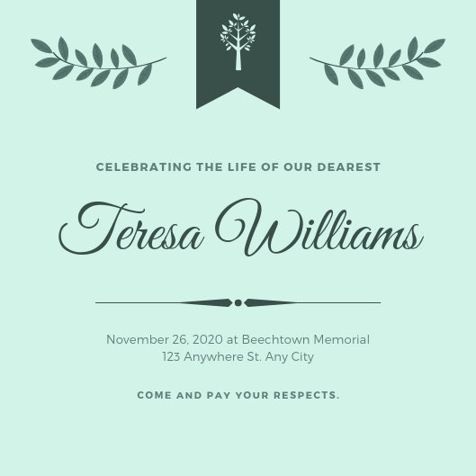 Funeral Invitation Template Free Awesome Customize 38 Funeral Invitation Templates Online Canva