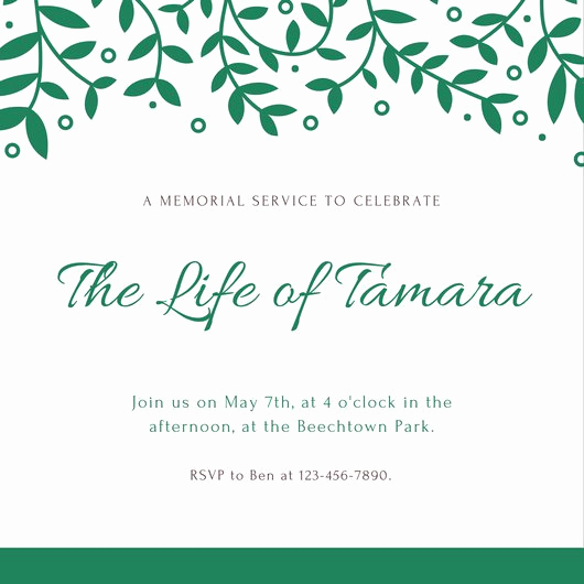 Funeral Invitation Template Free Awesome Customize 40 Funeral Invitation Templates Online Canva
