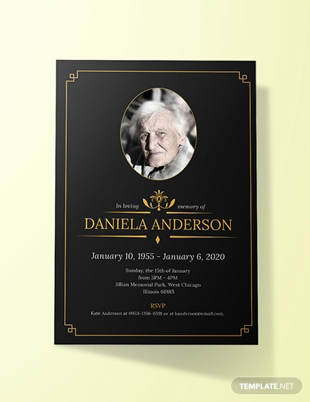 Funeral Invitation Template Free Elegant Free Simple Funeral Invitation Template Download 513