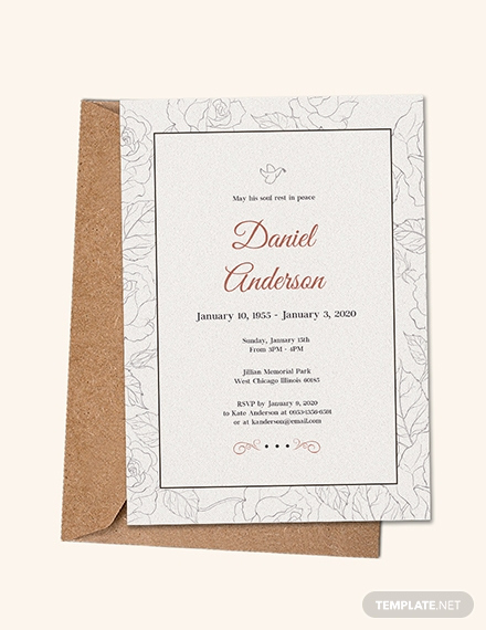 Funeral Invitation Template Free Luxury Free Simple Funeral Invitation Template Download 513