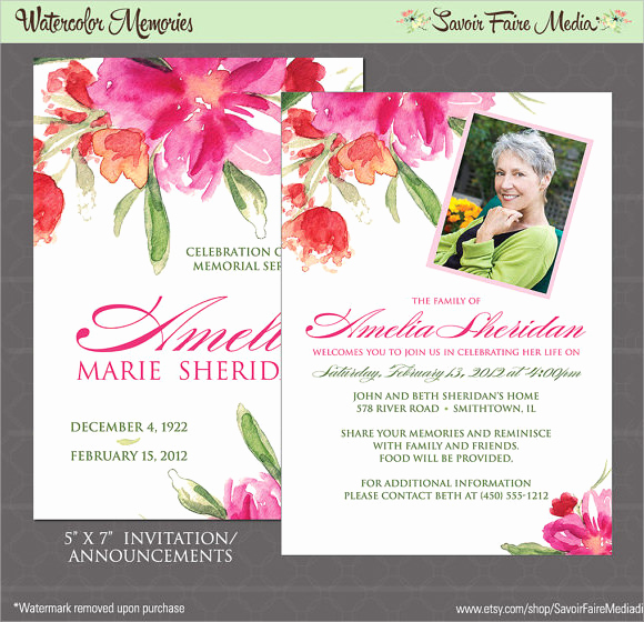 Funeral Invitation Template Free New 14 Funeral Notices Psd Vector Eps
