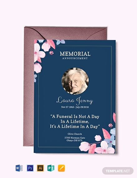 Funeral Invitation Template Free New Free Memorial Service Announcement Invitation Template