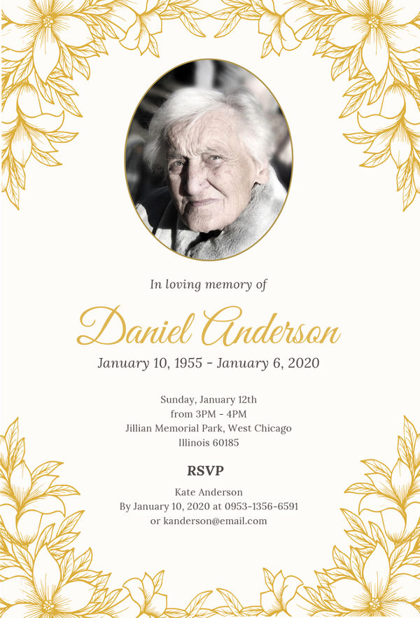 Funeral Invitation Template Free Unique 27 Funeral Invitation Templates Free Sample Example