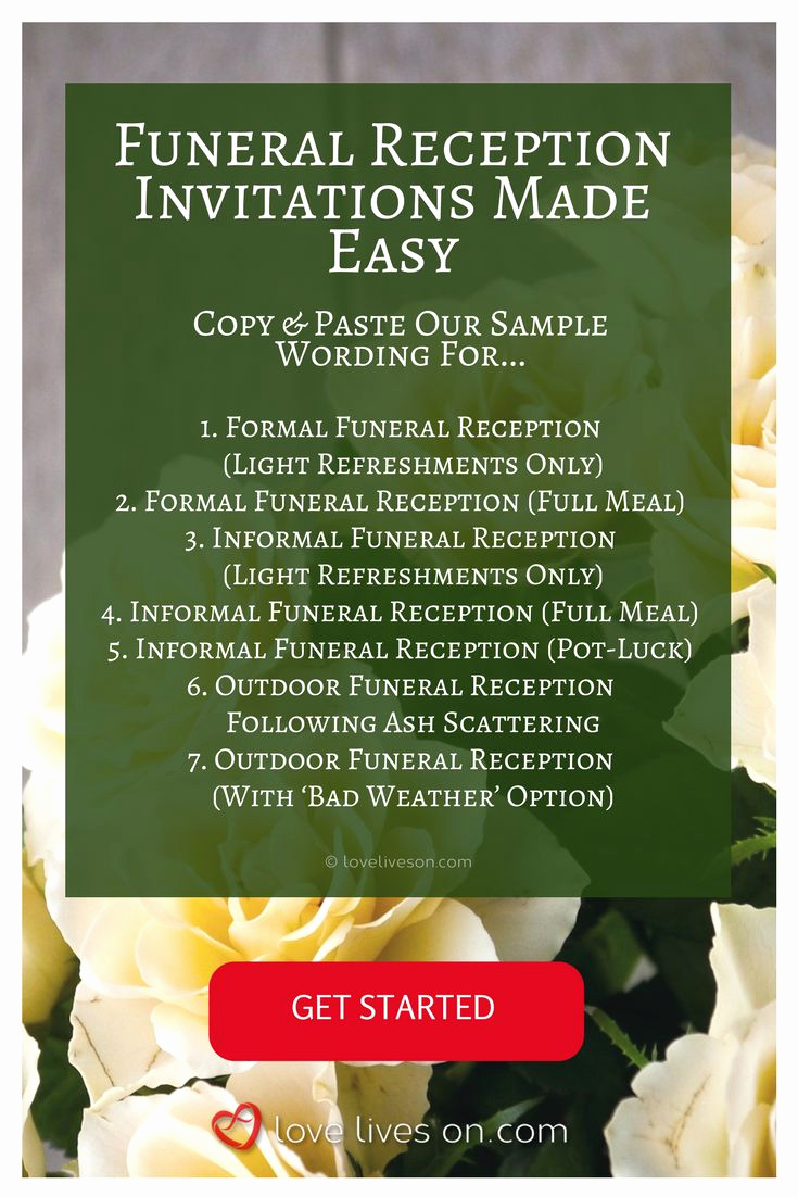 Funeral Reception Invitation Wording Awesome 35 Best Funeral Reception Invitations Images On Pinterest