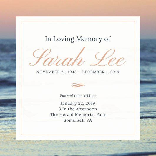 Funeral Reception Invitation Wording Awesome Customize 40 Funeral Invitation Templates Online Canva