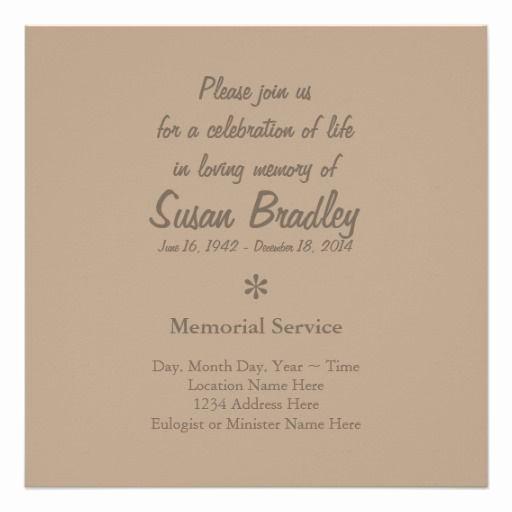 Funeral Reception Invitation Wording Awesome Elegant & Modern Celebration Of Life Invitation