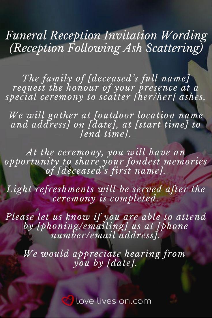 Funeral Reception Invitation Wording Beautiful Best 25 Funeral Reception Ideas On Pinterest