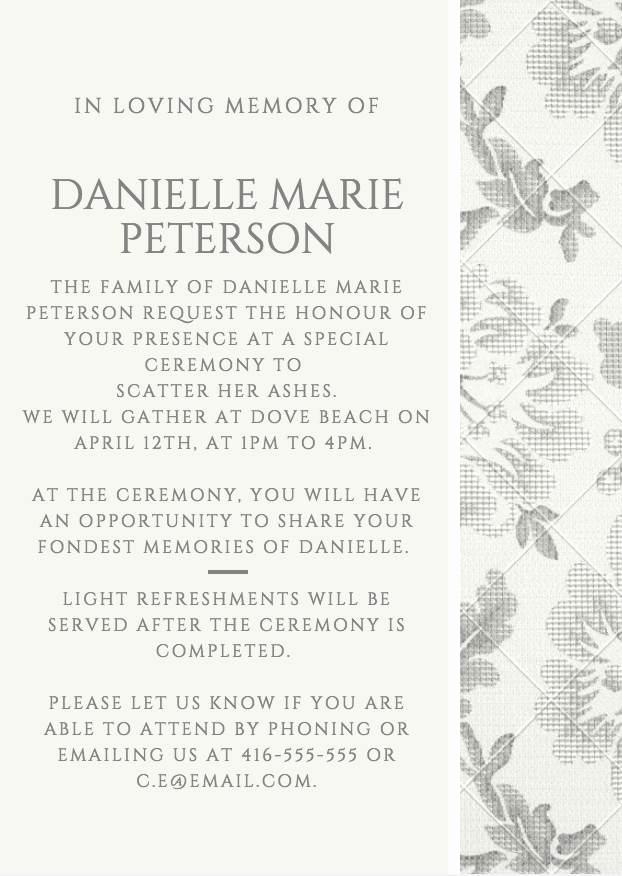 Funeral Reception Invitation Wording Best Of 39 Best Funeral Reception Invitations