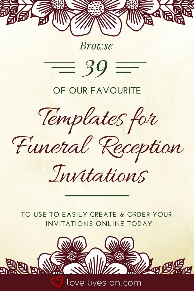 Funeral Reception Invitation Wording Elegant 34 Best Funeral Reception Invitations Images On Pinterest