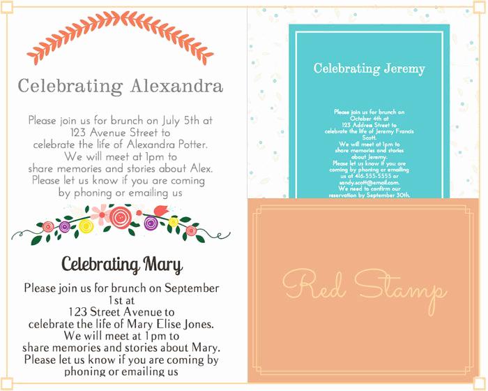Funeral Reception Invitation Wording Unique 29 Best Funeral Reception Invitations Images On Pinterest