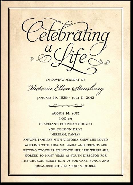 Funeral Reception Invitation Wording Unique Memorial Invitation