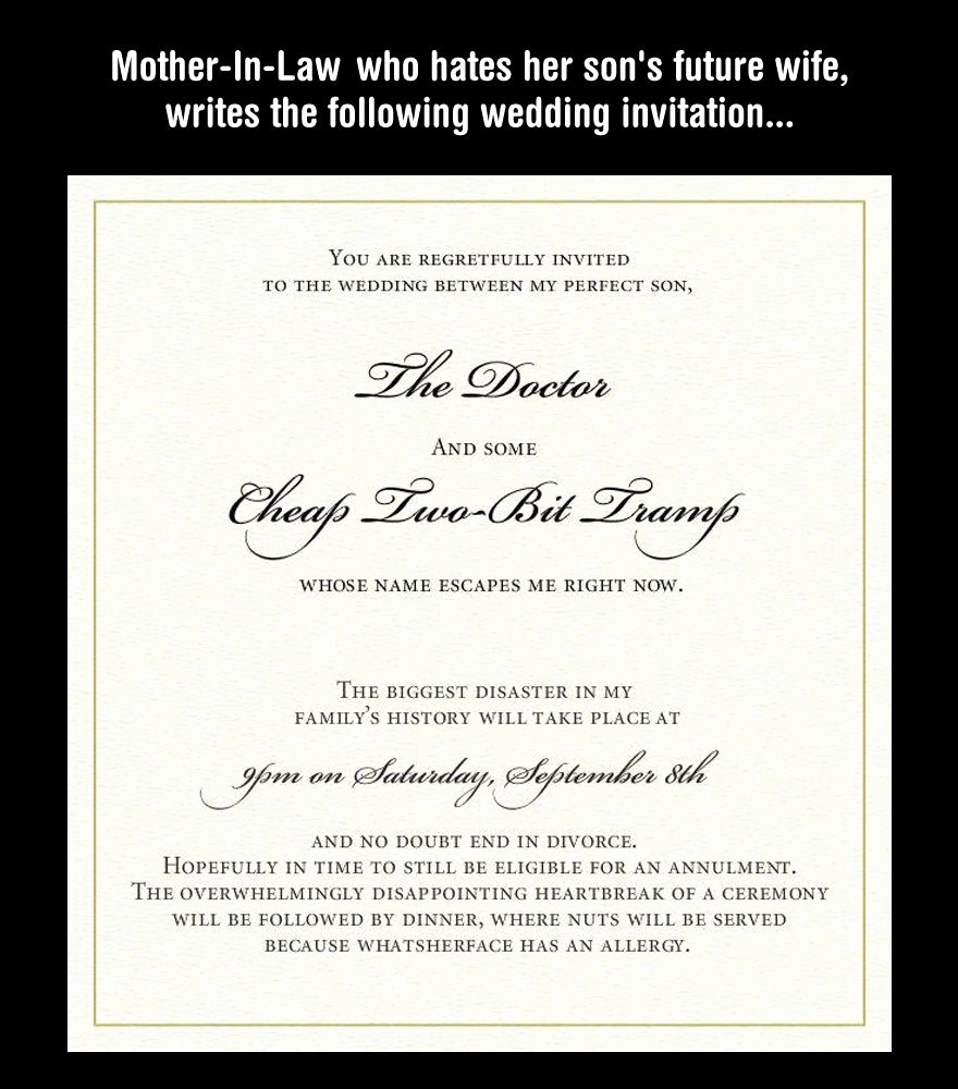 funny wedding invitation wordings for friends