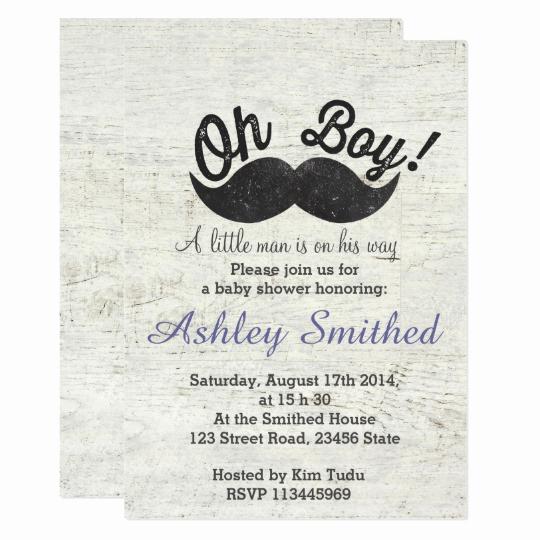Funny Baby Shower Invitation Wording Best Of Boy Baby Shower Funny Black Mustache Vintage Wood