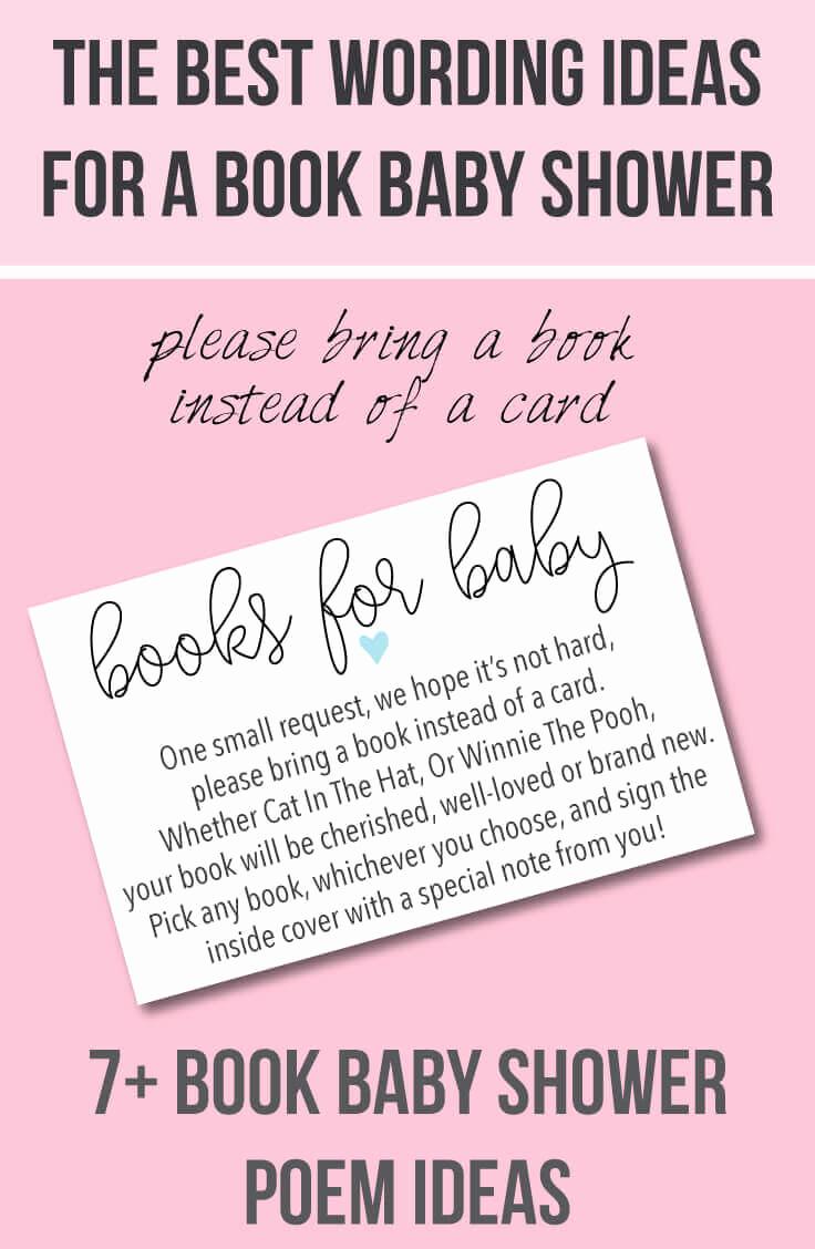 "Funny Baby Shower Invitation Wording Fresh 9 ""bring A Book Instead Of A Card"" Baby Shower Invitation"