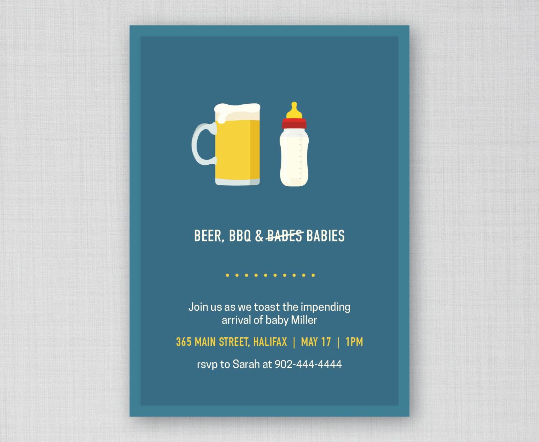 Funny Baby Shower Invitation Wording Inspirational Funny Baby Shower Invitation Beer Bbq and Babies Invite