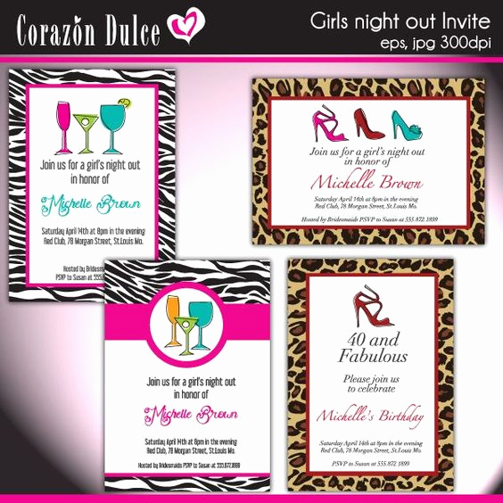 Funny Bachelorette Party Invitation Wording Awesome Girls Night Invitation Wording