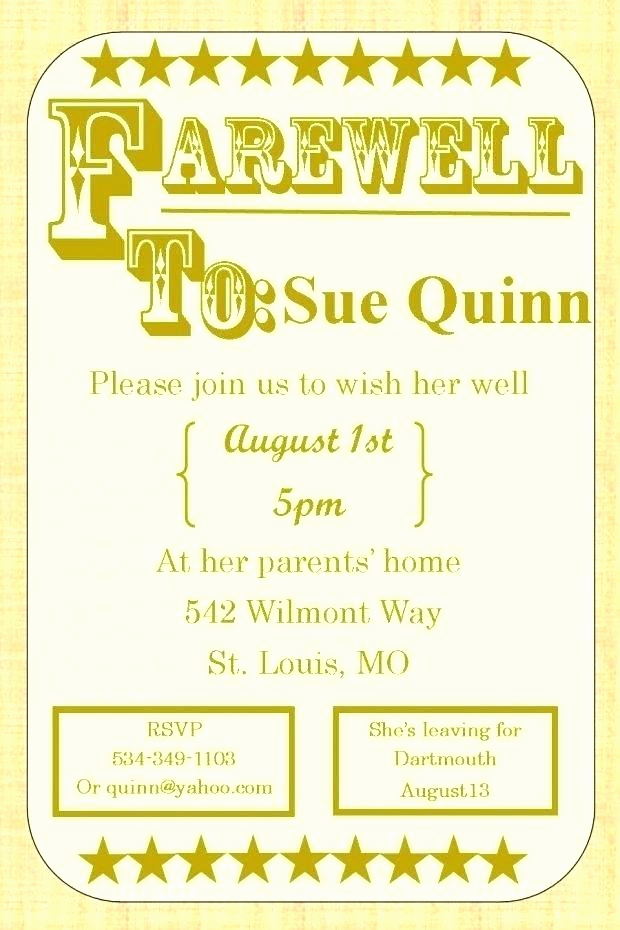 Funny Birthday Invitation Quotes Lovely Going Away Party Invitation Wording Funny