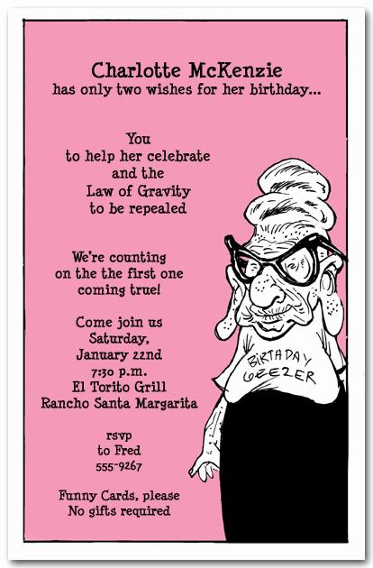 Funny Birthday Invitation Quotes New Funny Birthday Party Invitation Wording