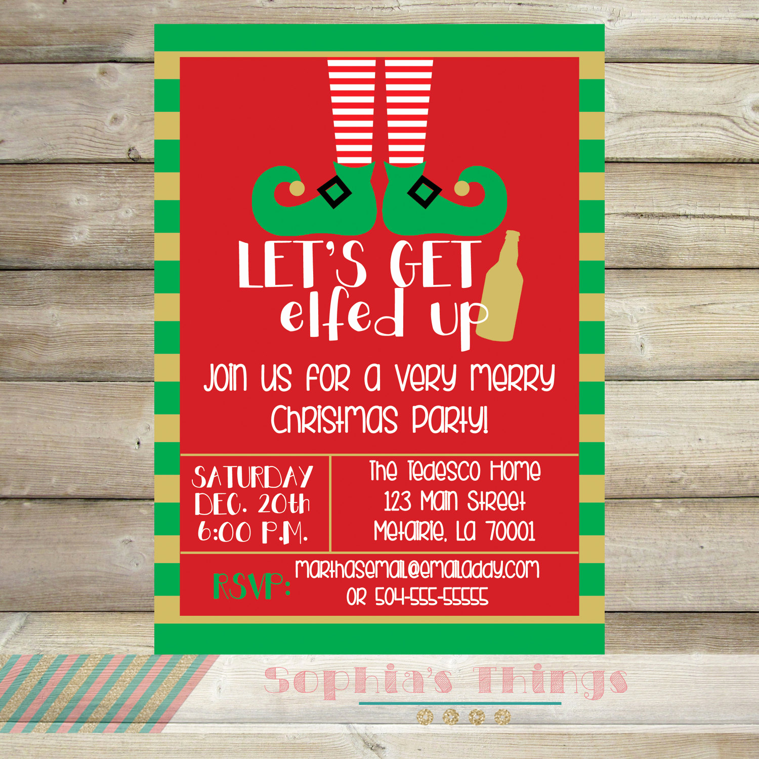 Funny Christmas Party Invitation Wording Elegant Let S Get Elfed Up Christmas Party Invitation Holiday