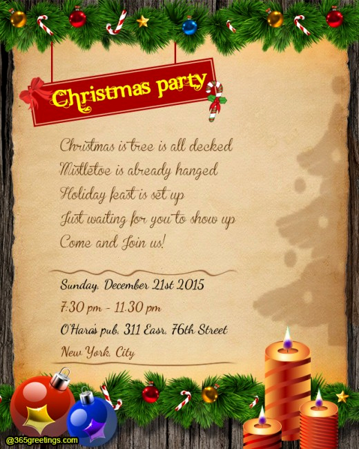 Funny Christmas Party Invitation Wording Luxury Christmas Party Invitation Wording 365greetings