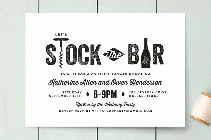 "Funny Engagement Party Invitation Wording Beautiful ""bar Cart"" Customizable Engagement Party Invitations In"