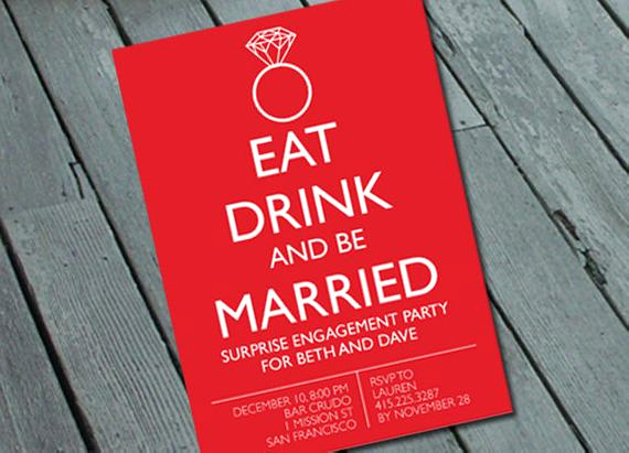 Funny Engagement Party Invitation Wording Inspirational Items Similar to Quirky & Fun Engagement Party Invitation