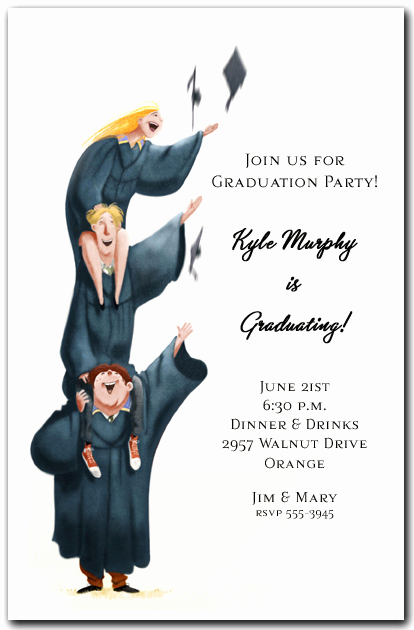 Funny Graduation Invitation Sayings Awesome Higher Learning Graduation Invitation Graduation Party