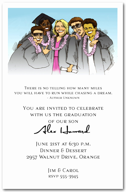 Funny Graduation Invitation Sayings Elegant Fun Group Graduation Party Invitation Graduation Invitation