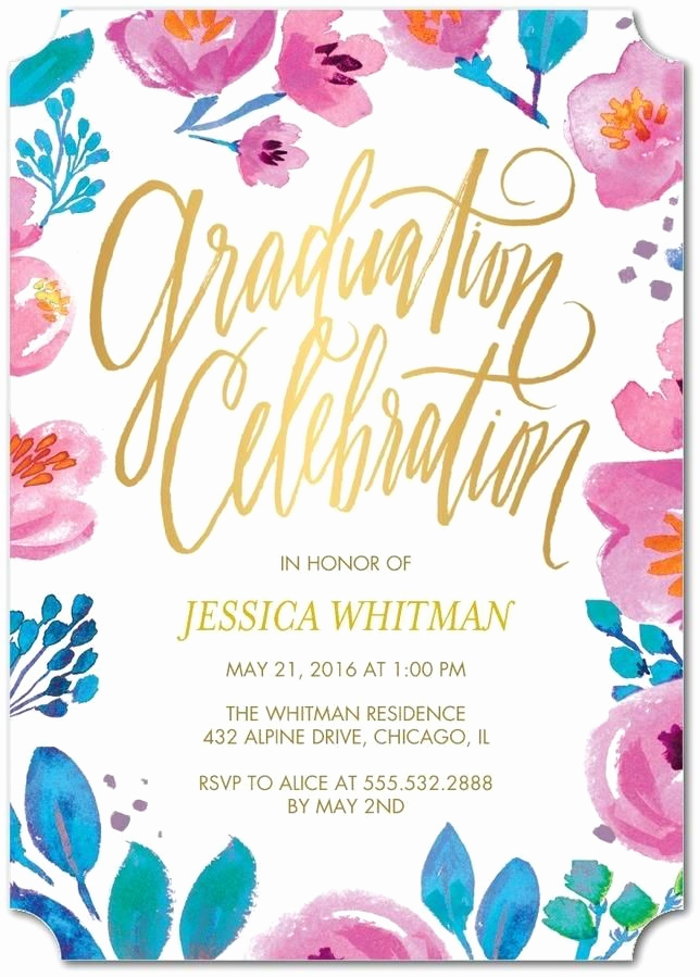 Funny Graduation Party Invitation Wording Elegant Floral Fun to Celebrate the Spring Grad Throw A