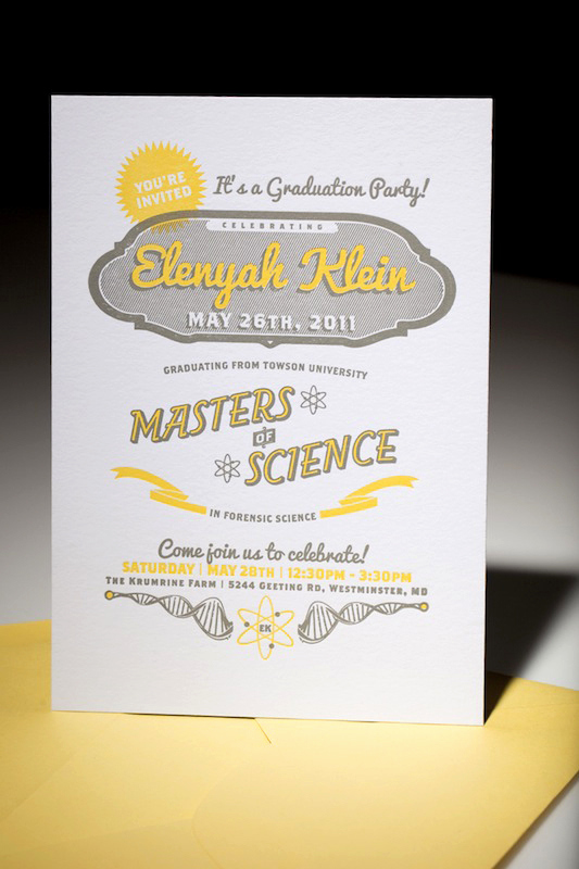 Funny Graduation Party Invitation Wording Elegant Modern Science Graduation Party Invitation