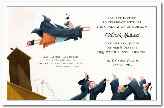 Funny Graduation Party Invitation Wording Luxury Flying High Graduation Party Invitations Graduation