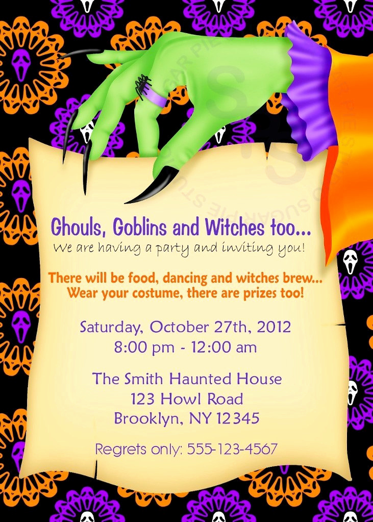 Funny Halloween Invitation Wording Elegant Printable Halloween Birthday Party Invitations – Festival