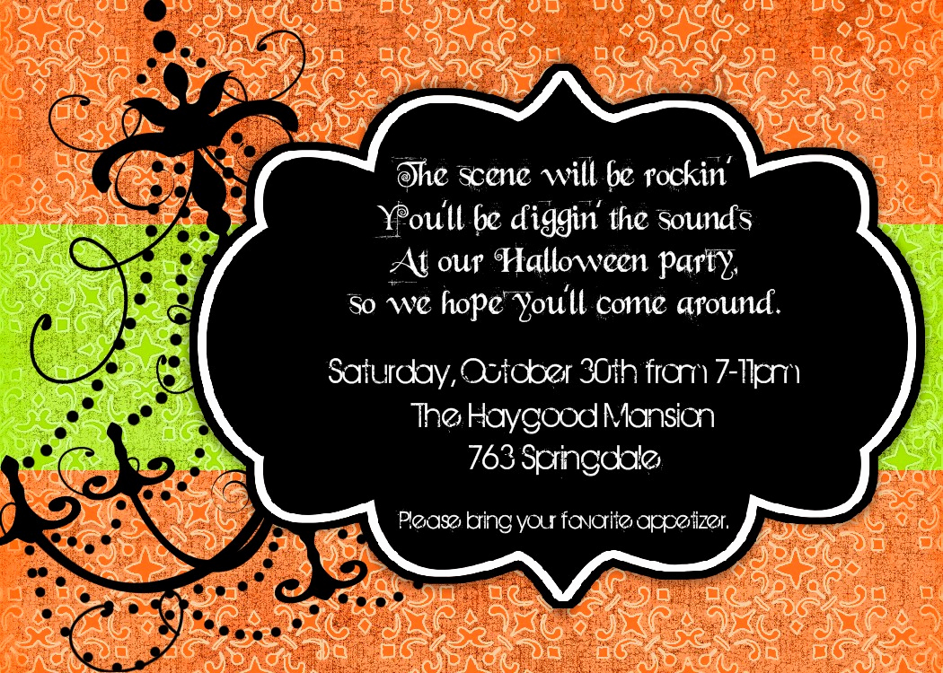 Funny Halloween Invitation Wording Inspirational Halloween Potluck Invitation Wording Ideas – Festival