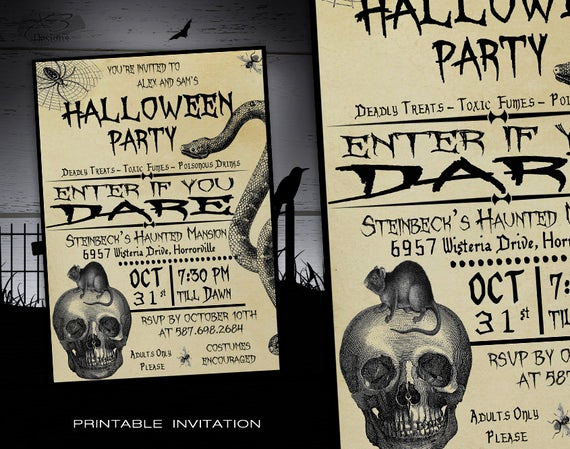 Funny Halloween Invitation Wording Luxury Halloween Invitation Printable Adult Halloween Party