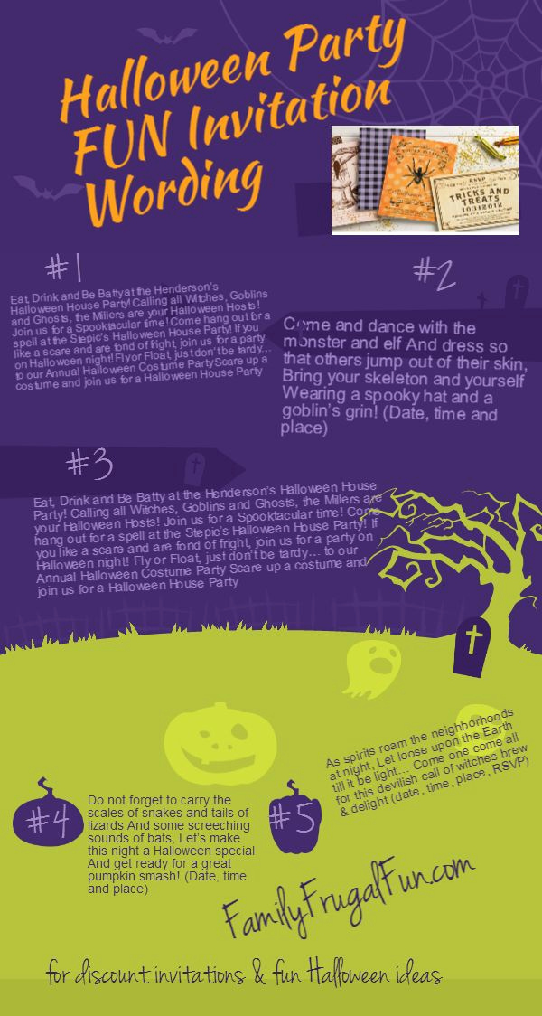 Funny Halloween Invitation Wording New Halloween Party Invitation Wording and the O Jays On
