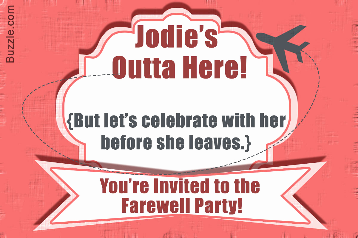 Funny Happy Hour Invitation Wording Luxury 10 Farewell Party Invitation Wordings to Bid Goodbye In Style