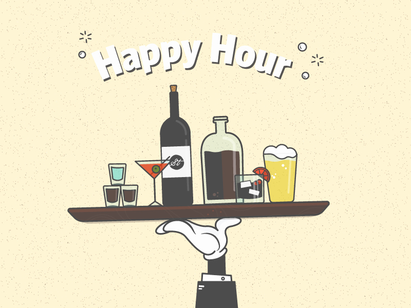 Funny Happy Hour Invitation Wording Luxury Happy Hour Invite by Dillon Lawrence Dribbble