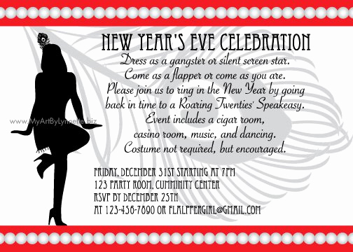 new year invitation text