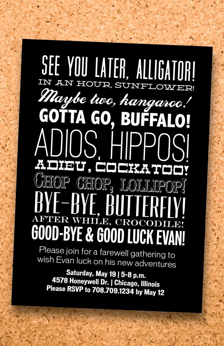 Funny Happy Hour Invitation Wording New Farewell Party O Cute